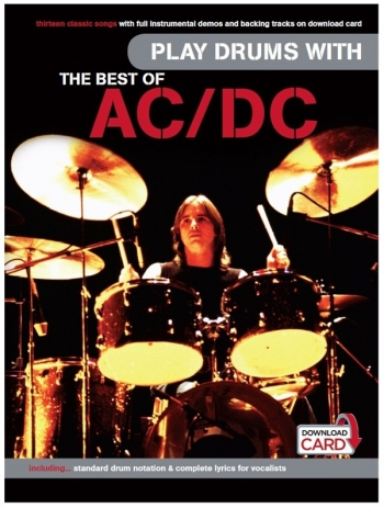 Play Drums With: The Best Of AC/D: Book/Audio Download