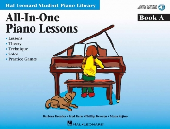 Hal Leonard: All In One Book A:  Piano Lessons - Hal Leonard Student Piano Library