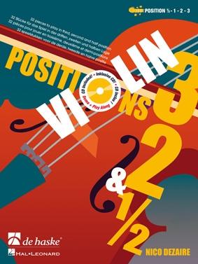 Positions 3, 2 & 1/2 Violin: Book & 2cd (dezaire)