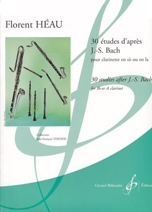 30 Studies After J S Bach: Vol 2: Clarinet (Bb Or A) (Heau)