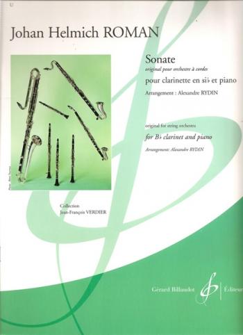 Sonata: Clairnet And Piano (Billaudot)