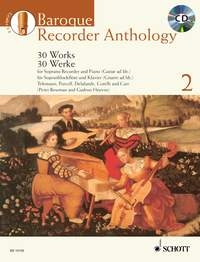 Baroque Recorder Anthology: Vol.2: 30 Works: Recorder: Book And CD