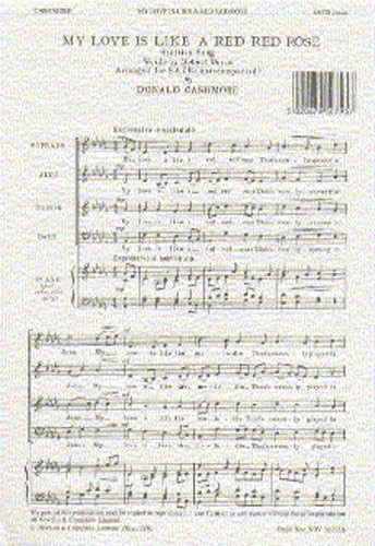 My Love Is Like A Red Red Rose: Vocal: SATB