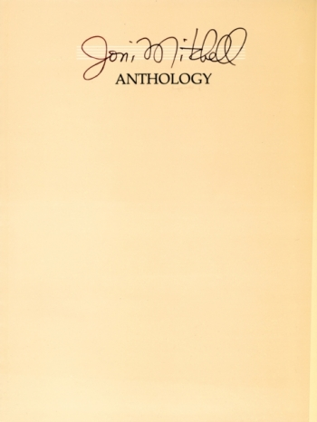 Joni Mitchell: Anthology: Piano Vocal Guitar