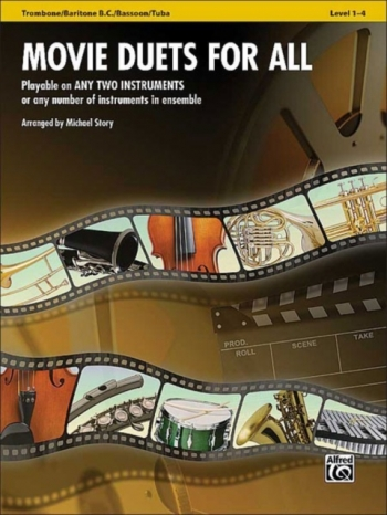Movie Duets For All: Trombone/Baritone BC/ Bassoon/ Tuba: