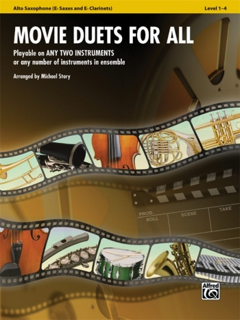 Movie Duets For All: Alto Saxophone: Level 1-4: