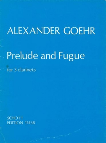 Prelude And Fugue: 3 Clarinets