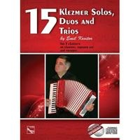 15 Klezmer Solos Duos And Trios: 3 Clarinets/Clarinet Soprano Sax And Trumpet: Book And Cd