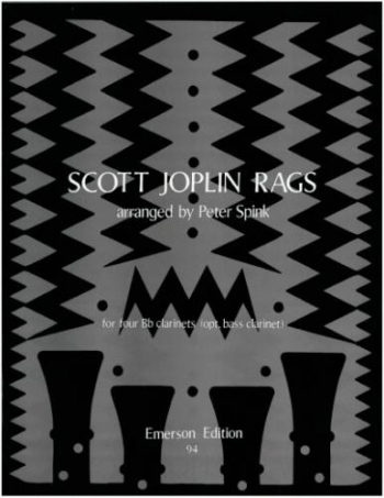 Joplin Rags: Clarinet Quartet: 4 Bb Clarinets With Optional Bass Part