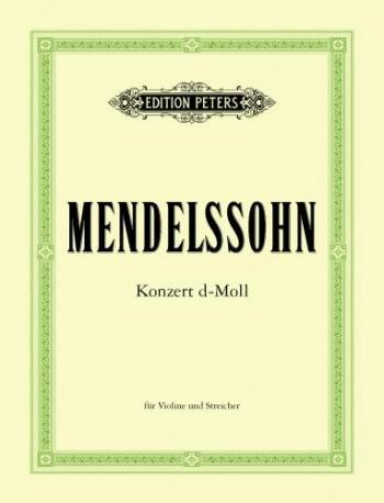 Concerto: D Minor: Violin And Piano (Peters)