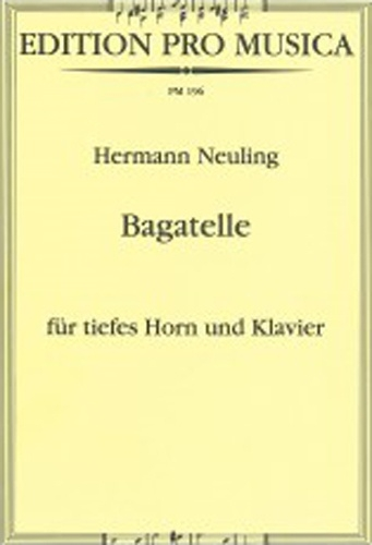 Bagatelle: Low Horn: French Horn (Emerson)