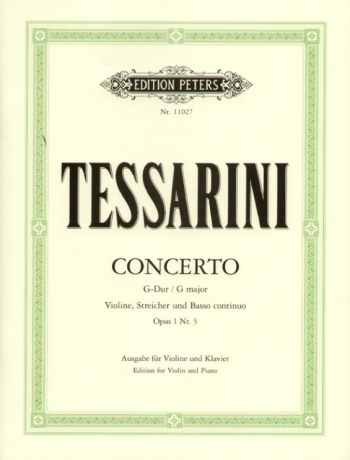 Concerto: G Major: Op.1 No.3: Violin And Piano (Peters)