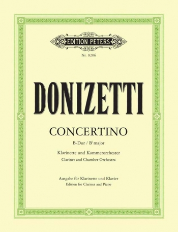Concertino: Clarinet And Piano (Peters)