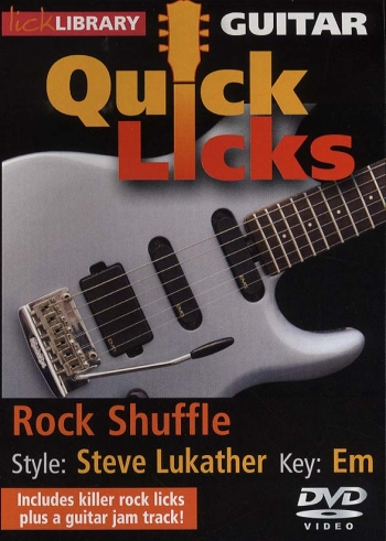 Lick Library: Guitar Quick Licks: Rock Shuffle: Steve Lukather: DVD
