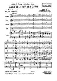 Elgar: Land Of Hope And Glory: Vocal: SATB