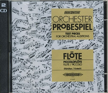 Test Pieces For Orchestral Auditions Flute (Orchester Probespiel) CD Only