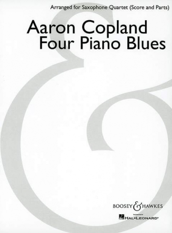 4 Piano Blues; Saxophone Quartet SATB: Score And Parts