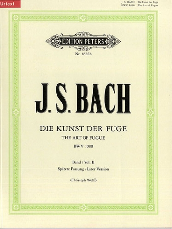 Art Of Fugue Bwv1080: Piano (Later Version Of Orignal) (Peters)