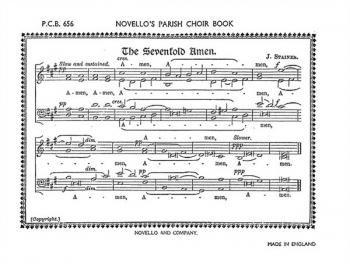 Sevenfold Amen And Dresden Amen: Vocal Satb