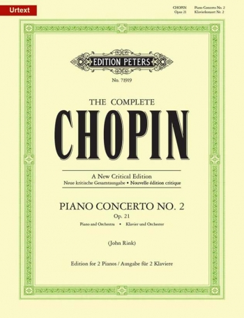 Chopin: Concerto No 2 F Minor: Op21:For 2 Pianos (Peters)