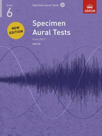 ABRSM Specimen Aural Tests Grade 6: Book & CD