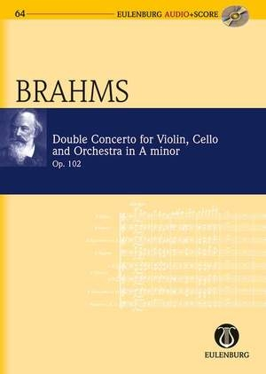 Double Concerto: Vln Vc And Orchestra: A Min: Op102: Miniature Score  & Cd (Audio Series No 64)