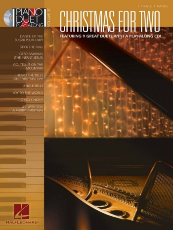 Christmas For Two: Piano Duet Play Along: Vol37: Book And Cd