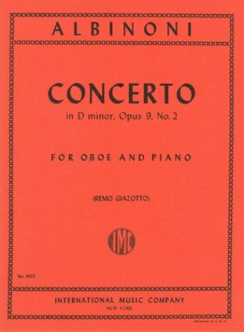 Oboe Concerto Op.9/2: Oboe And Piano (International)