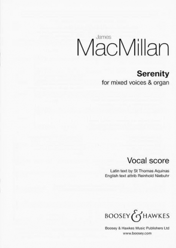 Serenity: Mixed Voices And Organ