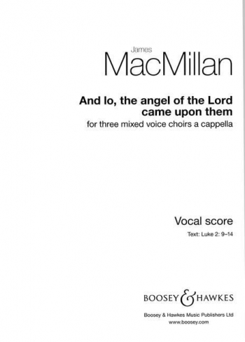 And Lo The Angel Of The Lord Came Upon Them: Mixed Voices A Capella