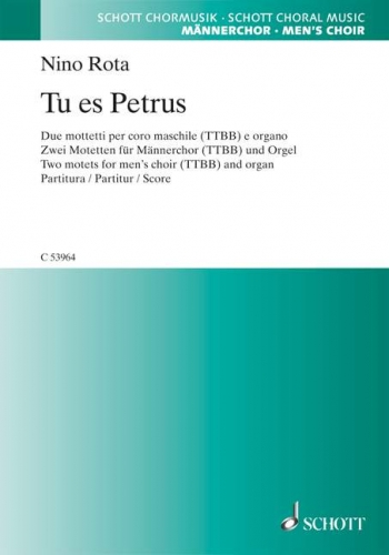 Tu Es Petrus: Male Choir And Organ
