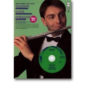 Suite Gluck Scene From Orpheus & Pergolesi Concerto In G: Flute & Piano : Bk&2cd (MMO)