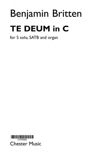Te Deum In C - Treble (Soprano & SATB Chorus & Organ