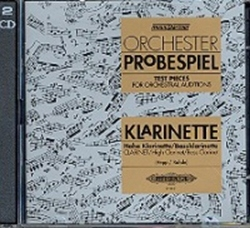 Test Pieces For Orchestral Auditions Clarinet (Orchester Probespiel)  Cd Only