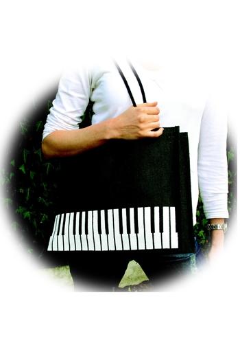 Book Carrier - Black Keyboard Design