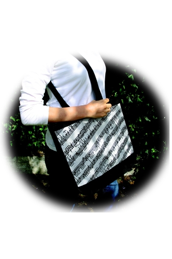 College Bag - Black Manuscript Design