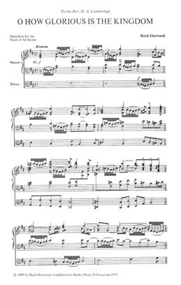 O How Glorious Is The Kingdom: Vocal Satb