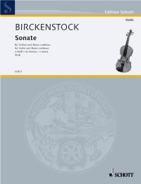 Sonata: E Minor: Violin And Piano (Schott)