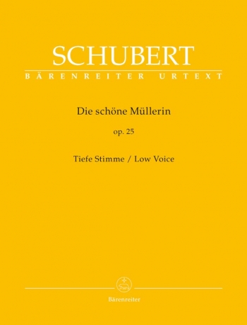 Die Schone Mullerin: Low Voice: Vocal And Piano (Barenreiter)