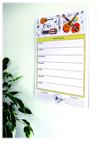 Weekly Planner Wall Chart - Guitar