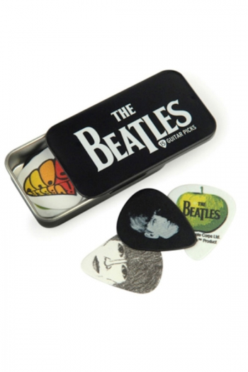Collectible Tin Of Beatles Guitar Picks