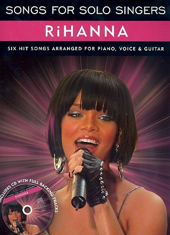 Songs For Solo Singers: Rihanna: Piano Vocal Guitar: Book And CD