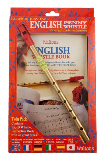 Waltons English Whistle Book And D Whistle