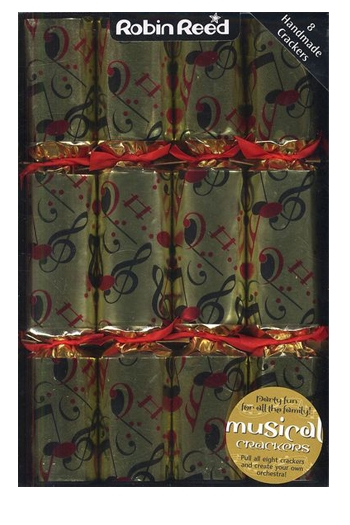 Christmas Crackers - Deluxe Box Of 8 - Gold