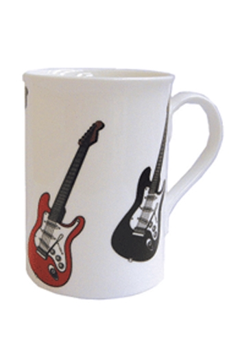 Red & Black Electric Guitar Mug