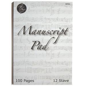 Manuscript Pad - 12 Stave - 100 Page - Music Gifts