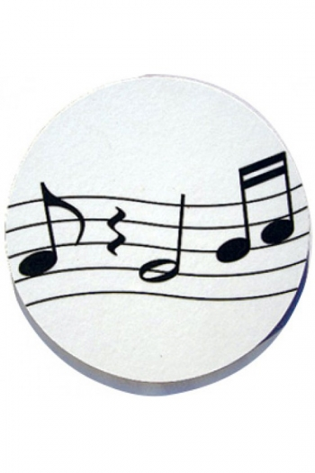 Mugmats Wavy Notes White Coasters