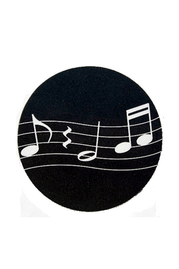Mugmats Wavy Notes Black Coasters
