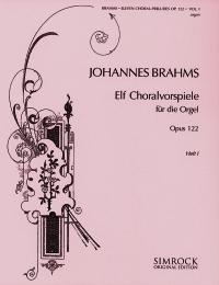 Eleven Chorale Preludes Op122: Part 1: Organ