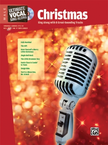 Ultimate Vocal Sing-along Male: Christmas: Bk&cd